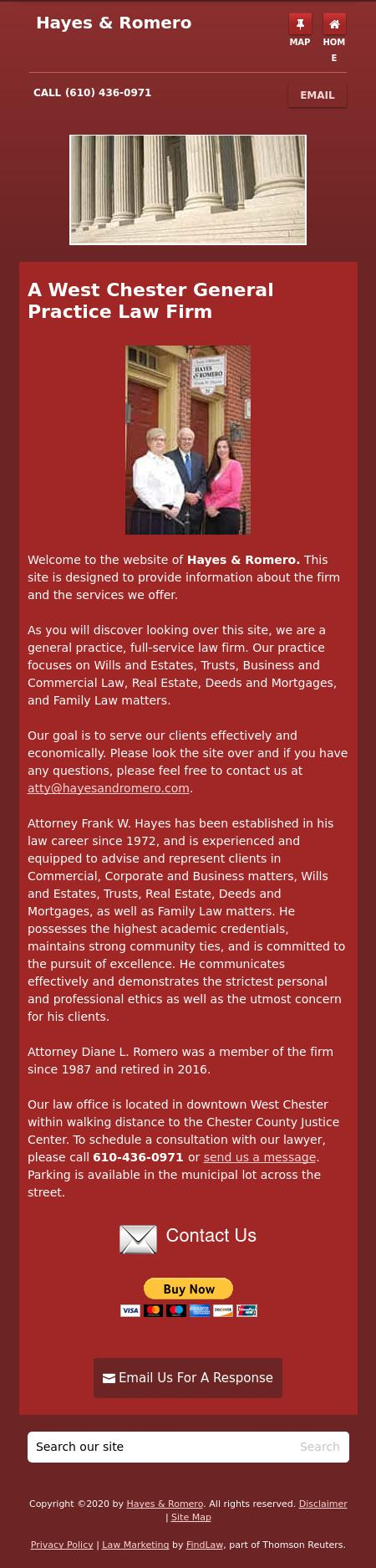 Hayes & Romero | West Chester PA Law | LawyerLand