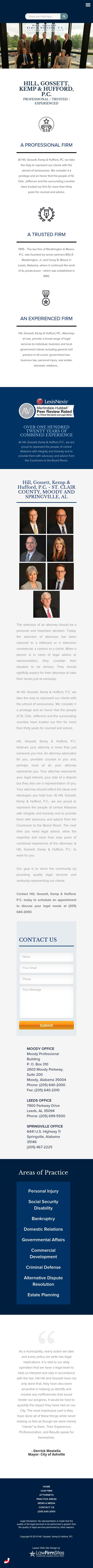 Hill, Hill and Gossett, P.C. - Springville AL Lawyers