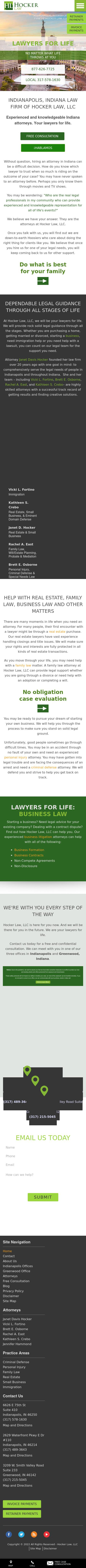 Hocker & Associates, LLC - Indianapolis IN Lawyers
