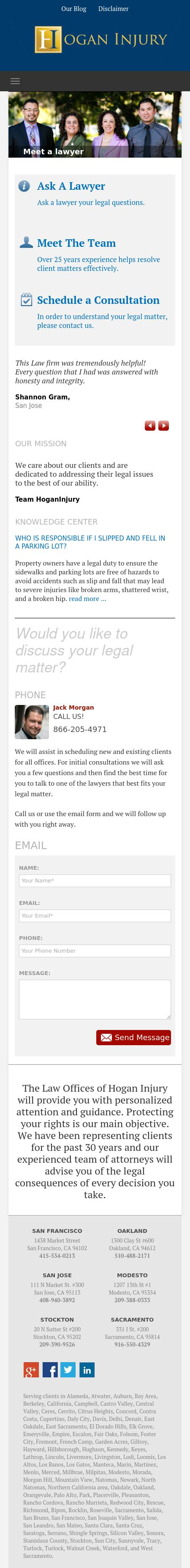 Hogan Injury - San Jose CA Lawyers