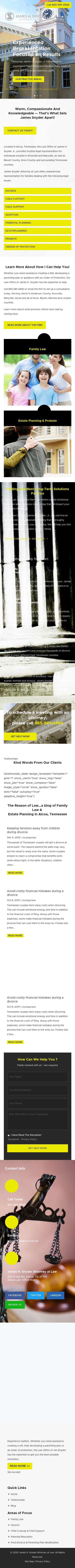 James H. Snyder Jr. - Alcoa TN Lawyers