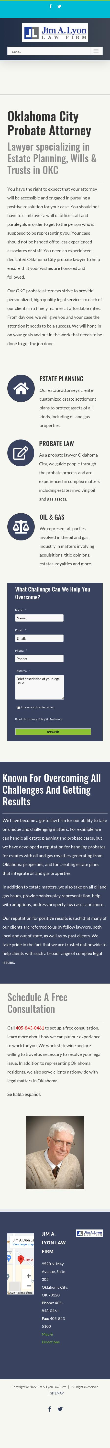 Jim A. Lyon Law Firm - Oklahoma City OK Lawyers