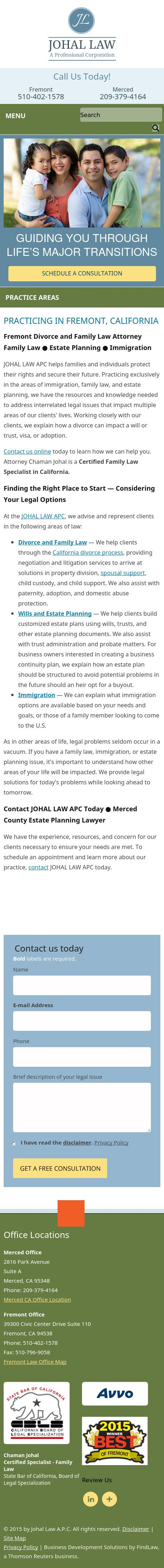 Johal Law A.P.C. - Fremont CA Lawyers