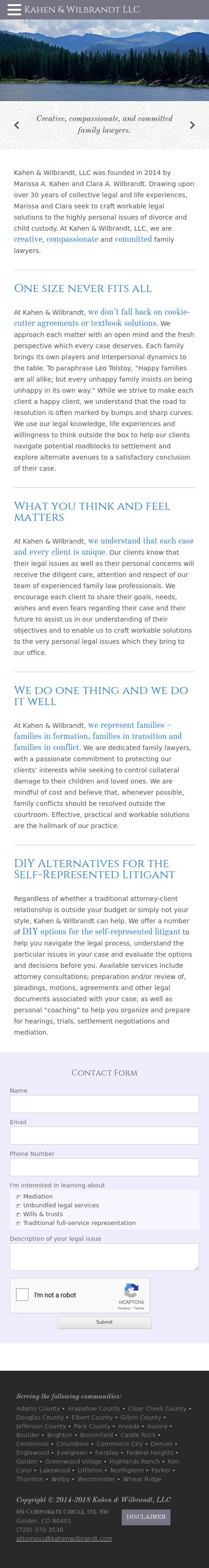 Kahen & Wilbrandt, LLC - Golden CO Lawyers