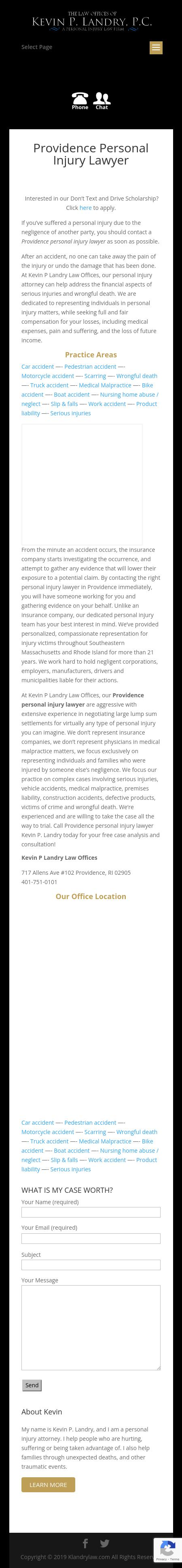 Kevin P Landry Law Offices - Providence RI Lawyers