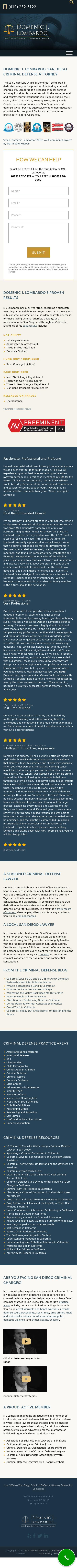 Law Office of Domenic J. Lombardo - San Diego CA Lawyers