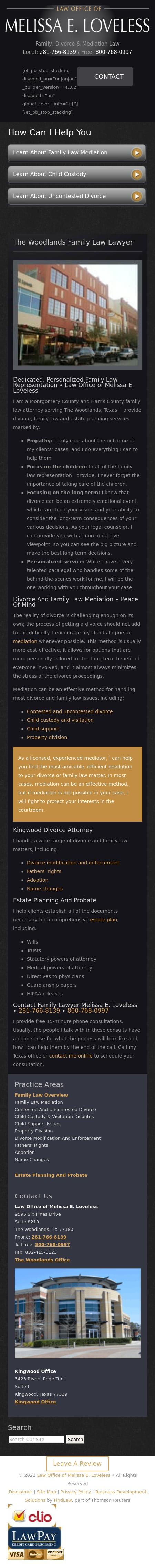 Law Office of Melissa E. Loveless - Kingwood TX Lawyers