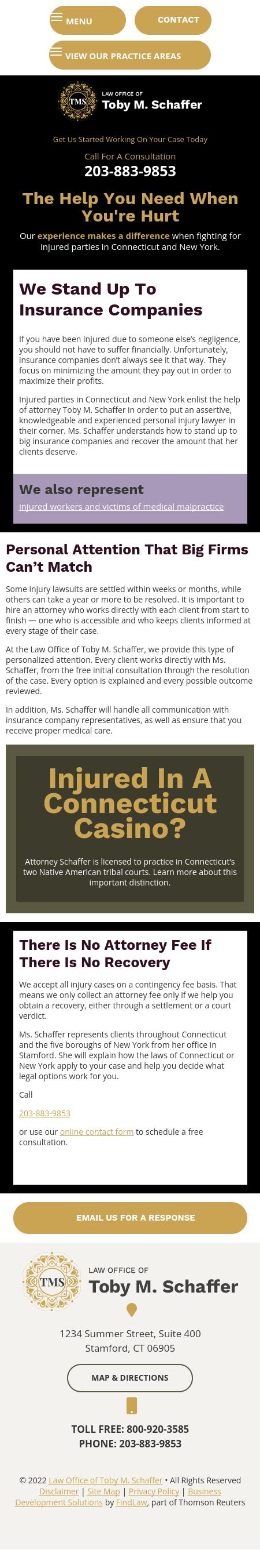 Law Office of Toby M. Schaffer | Stamford CT Law | LawyerLand