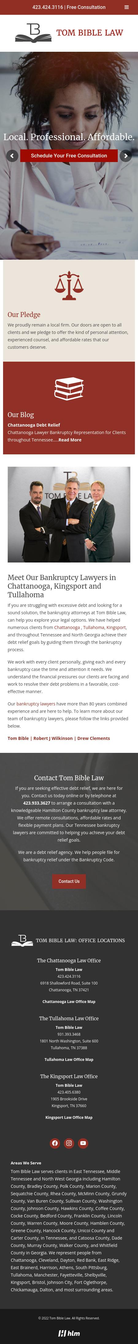 Law Office of W. Thomas Bible, Jr. - Chattanooga TN Lawyers