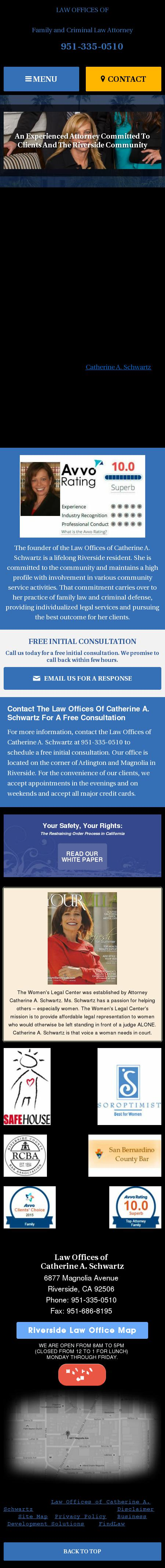 Law Offices of Catherine A. Schwartz - Riverside CA Lawyers