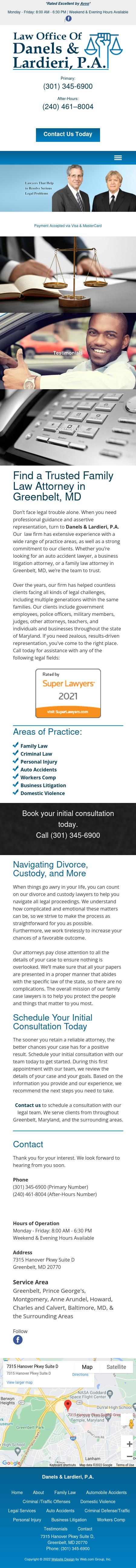 Law Offices of Danels & Lardieri, P.A. - Greenbelt MD Lawyers
