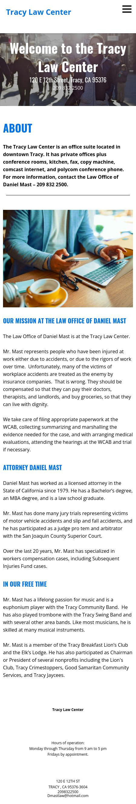 Law Offices of Daniel P. Mast - Tracy CA Lawyers