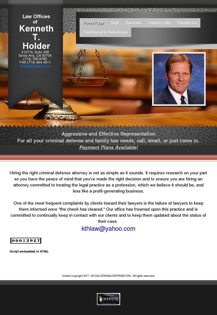 Law Offices of Kenneth Holder - Santa Ana CA Lawyers