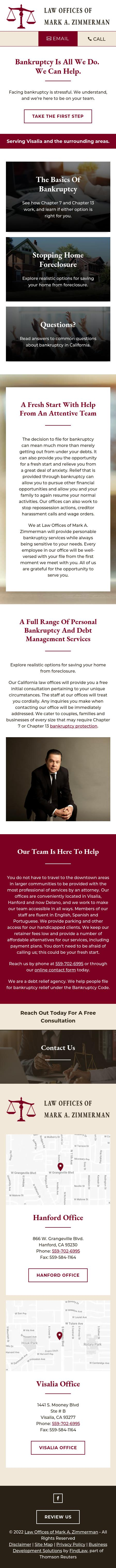 Law Offices of Mark A. Zimmerman - Delano CA Lawyers
