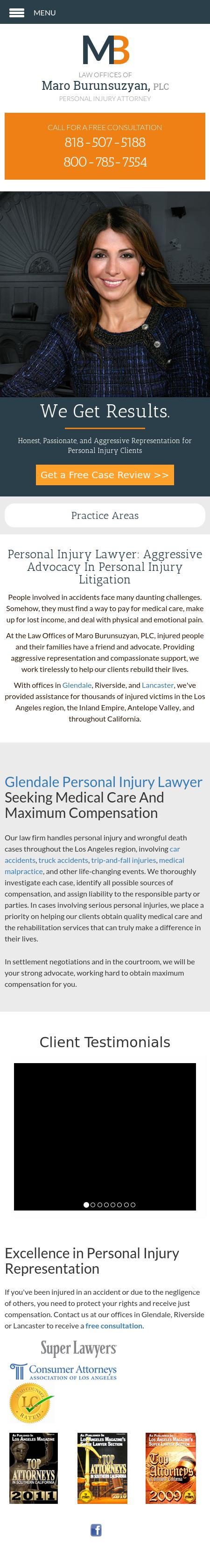 Law Offices of Maro Burunsuzyan, PLC - Glendale CA Lawyers