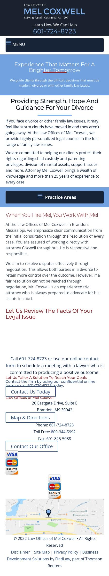 Law Offices of Mel Coxwell - Brandon MS Lawyers