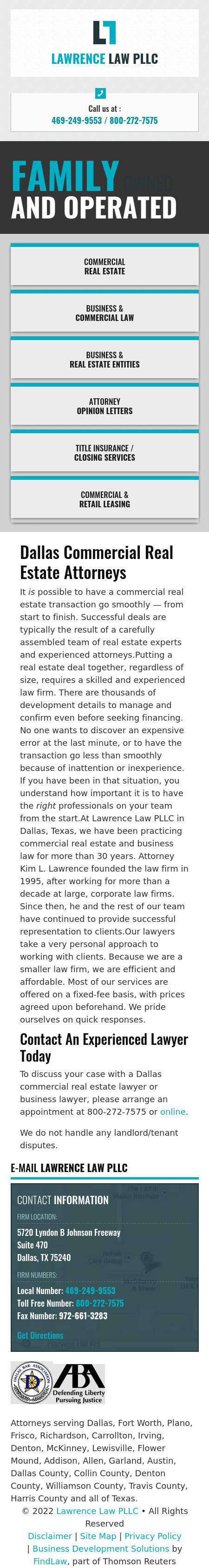 Lawrence Law PLLC - Dallas TX Lawyers