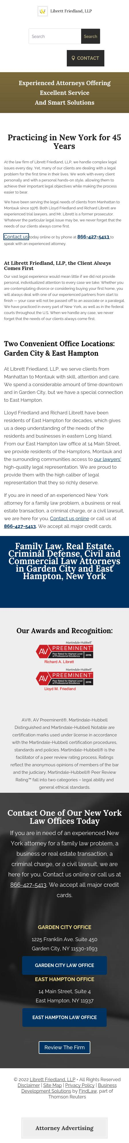 Librett Friedland & Lieberman, LLP - East Hampton NY Lawyers