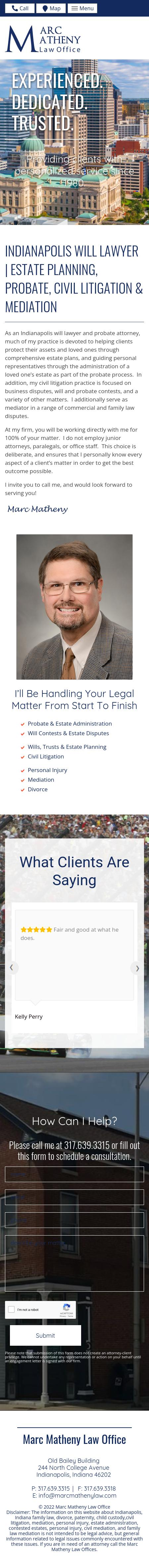 Marc Matheny Law Offices - Indianapolis IN Lawyers