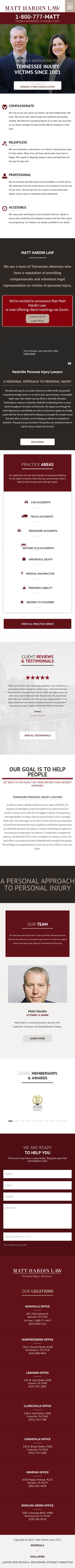 Matt Hardin Law, PLLC - Nashville TN Lawyers