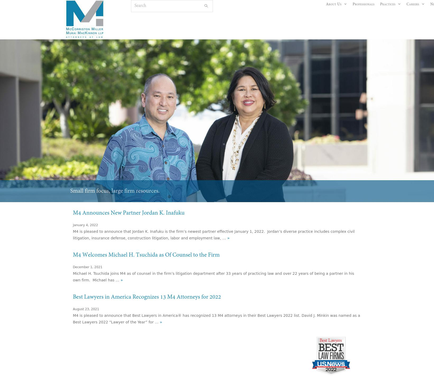 McCorriston Miller Mukai MacKinnon LLP - Honolulu HI Lawyers