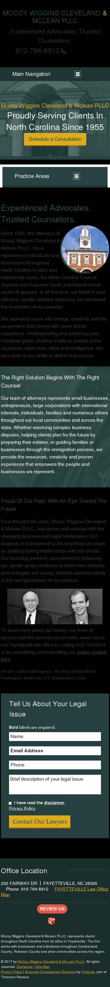 McCoy Weaver Wiggins Cleveland Rose Ray PLLC - Fayetteville NC Lawyers