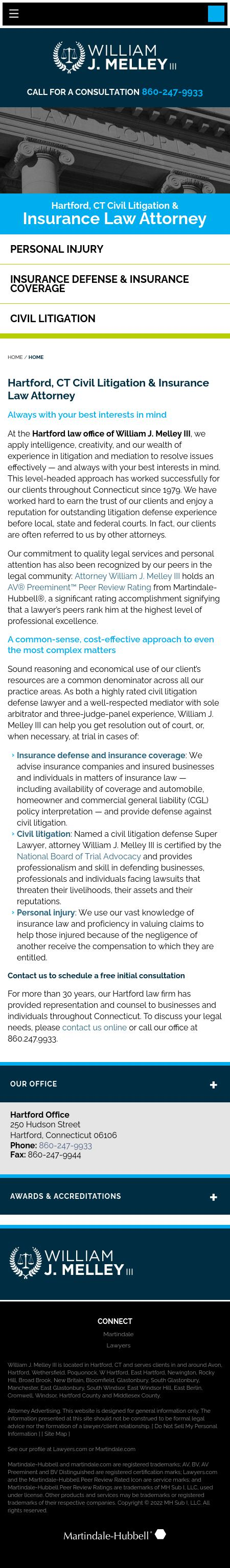 Melley William J - Hartford CT Lawyers