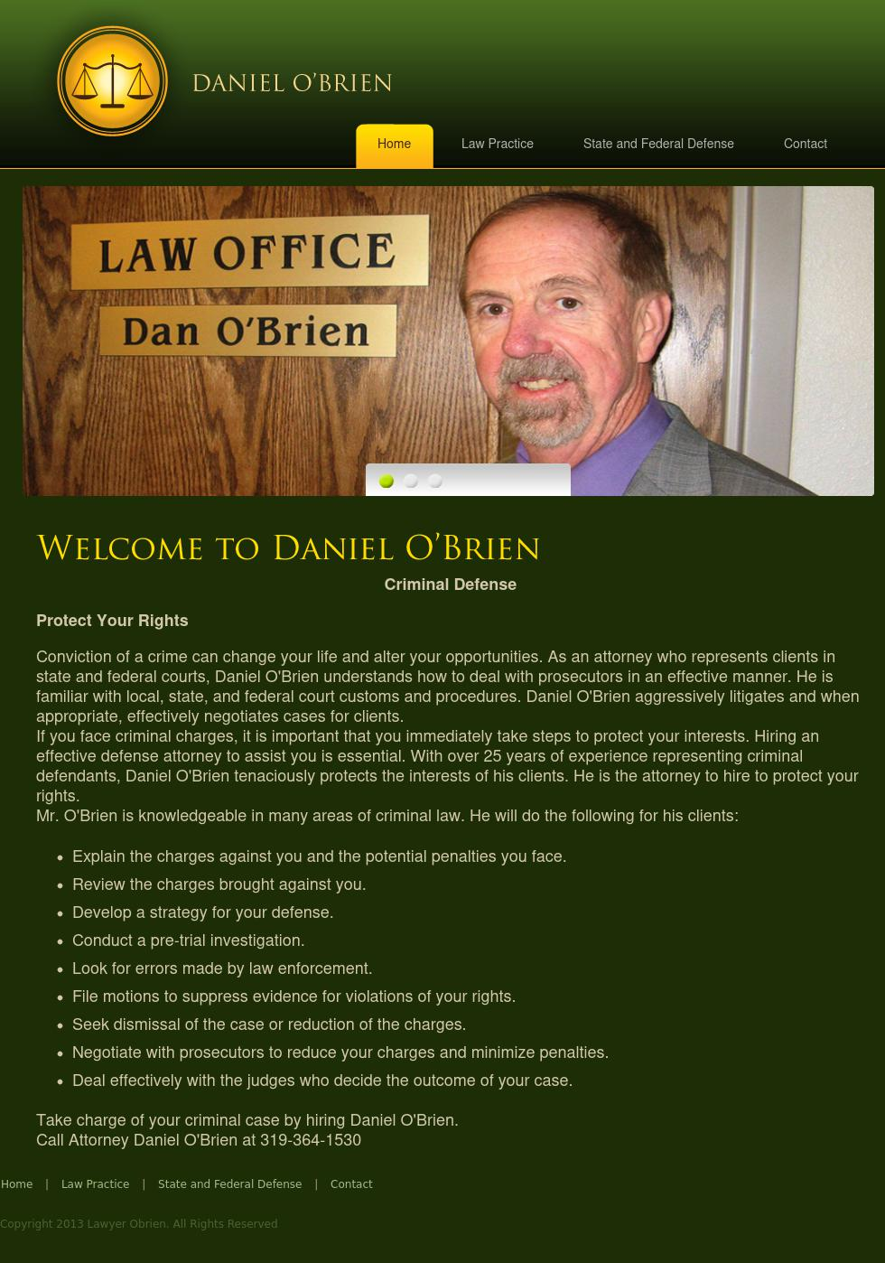 O'Brien Daniel Atty - Cedar Rapids IA Lawyers