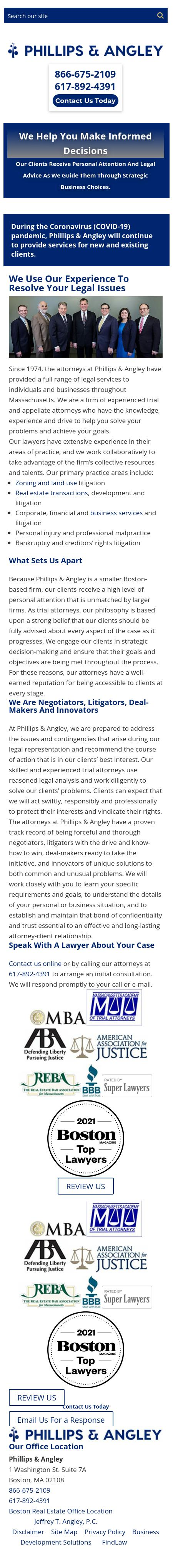 Phillips & Angley - Boston MA Lawyers