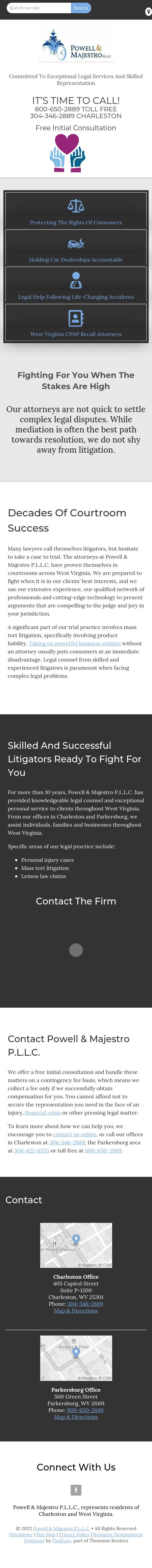 Powell & Majestro P.L.L.C. - Charleston WV Lawyers