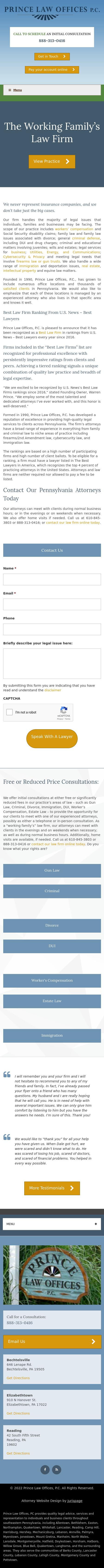 Prince Law Offices, P.C. - Allentown PA Lawyers