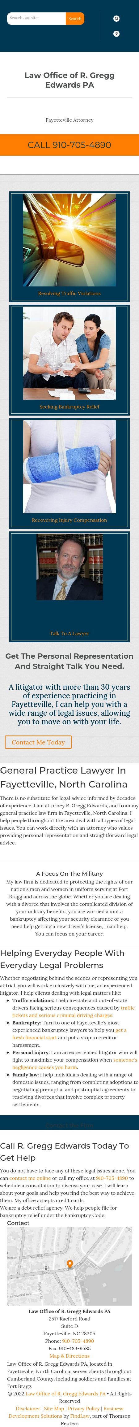 R. Gregg Edwards, P.A. - Fayetteville NC Lawyers