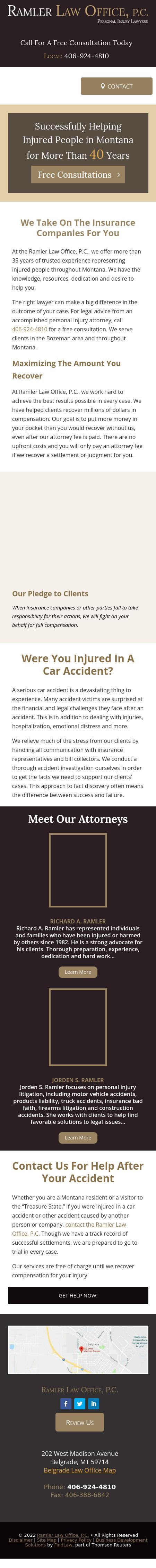 Ramler Law Office, P.C. - Belgrade MT Lawyers