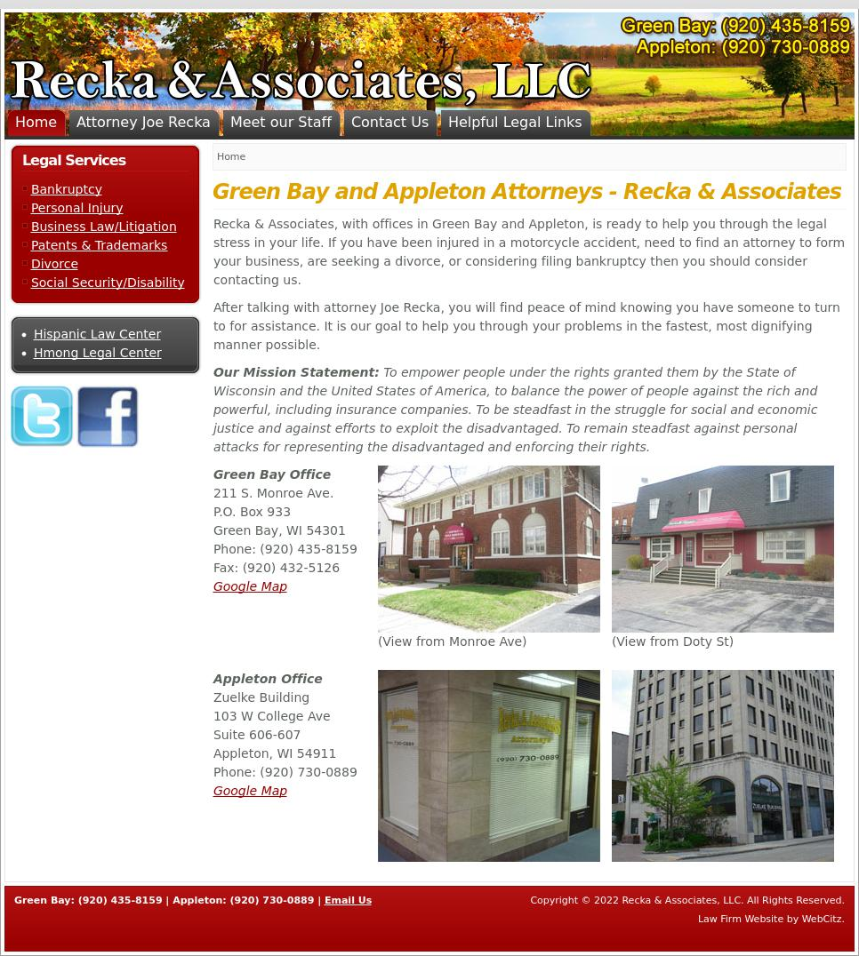 Recka & Associates | Green Bay WI Law | LawyerLand