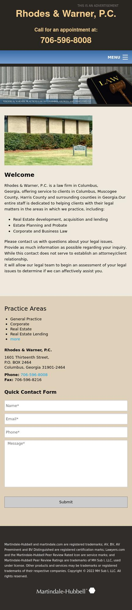 Rhodes & Warner PC - Columbus GA Lawyers