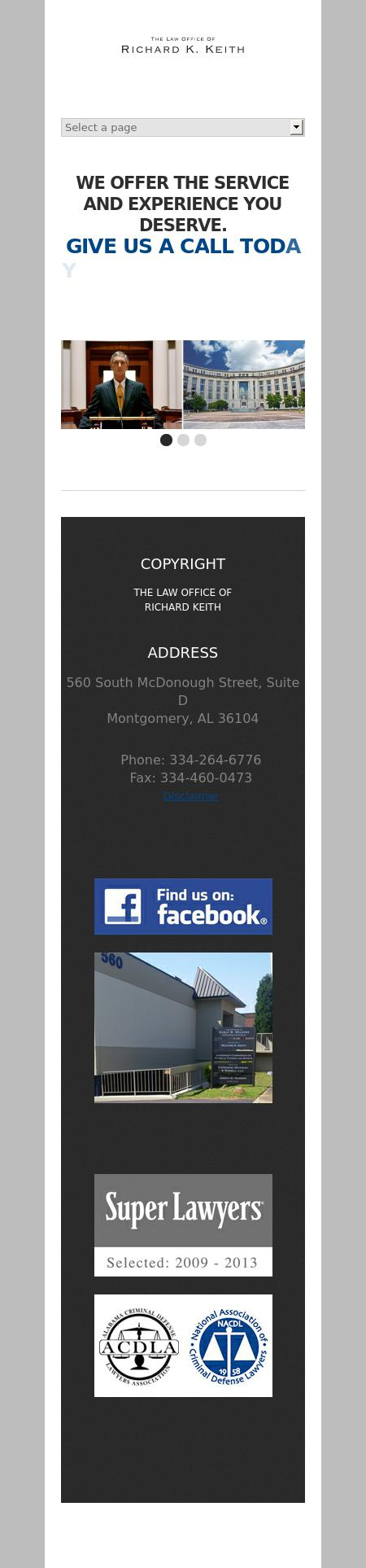 Richard K Keith - Montgomery AL Lawyers