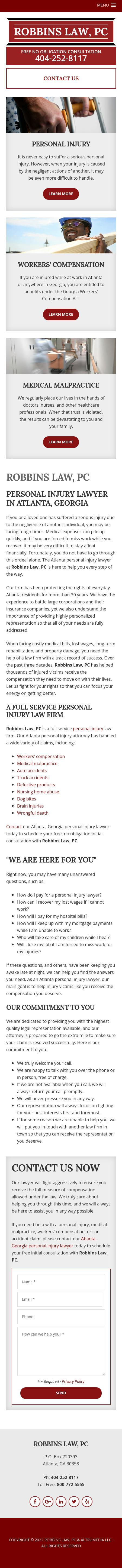 Robbins & Associates PC - Atlanta GA Lawyers