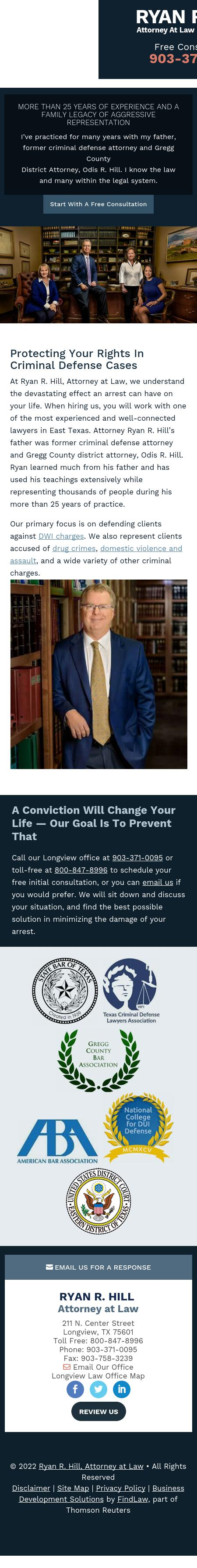 Ryan R. Hill, Attorney at Law - Longview TX Lawyers