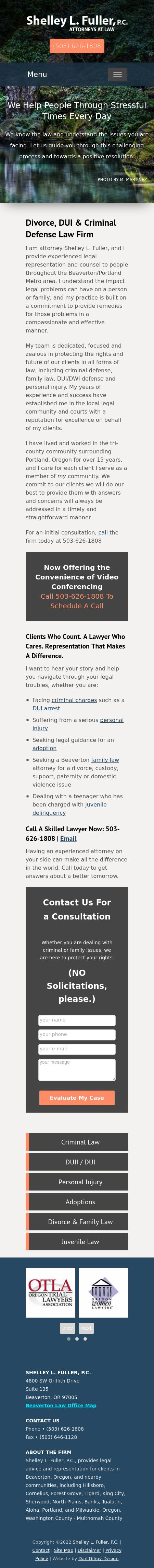 Shelley L. Fuller, P.C. - Beaverton OR Lawyers