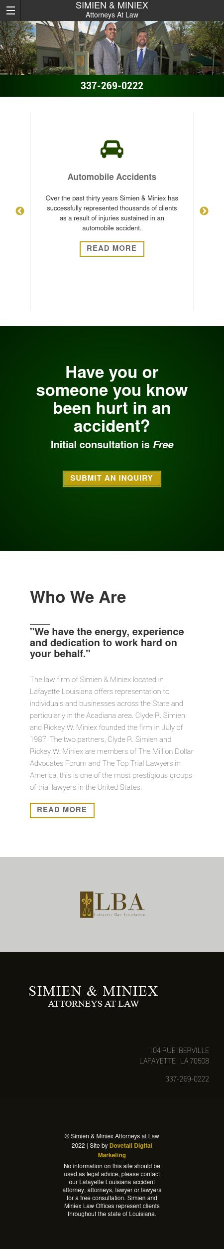 Simien And Miniex A Professional Law Corporation - Lafayette LA Lawyers