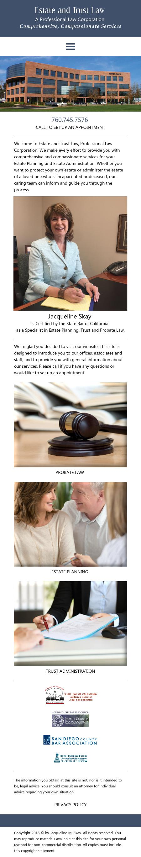 Skay Jacqueline M Attorney At Law - Carlsbad CA Lawyers
