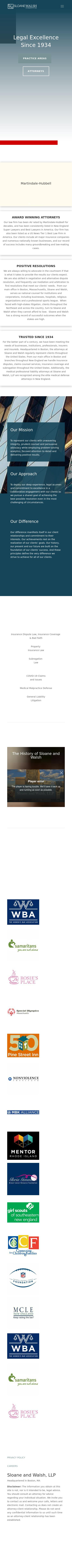 Sloane and Walsh, LLP - Boston MA Lawyers