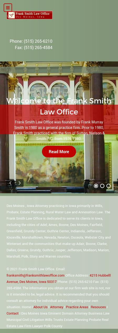 Smith Frank Law Office - Des Moines IA Lawyers