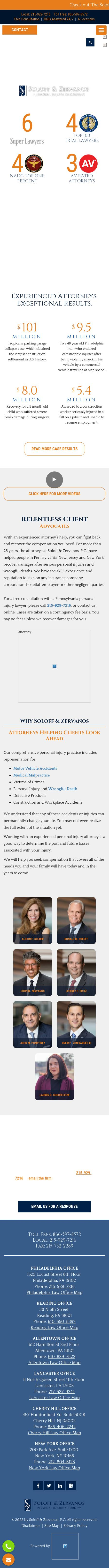 Soloff & Zervanos, P.C. - Reading PA Lawyers