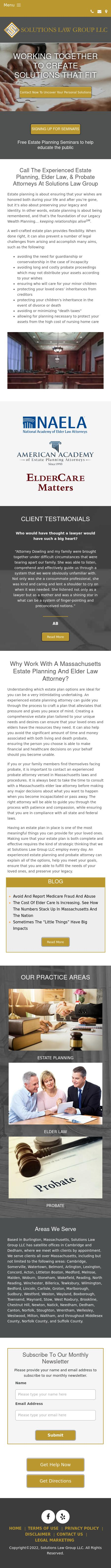 Solutions Law Group LLC - Cambridge MA Lawyers