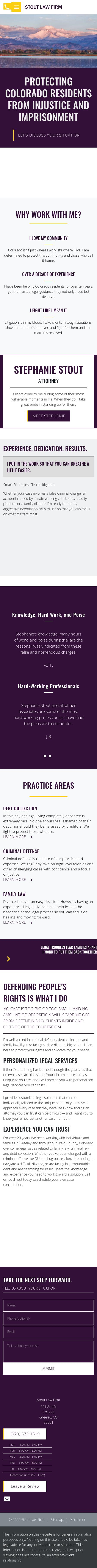 Stout Law Firm, LLC - Greeley CO Lawyers