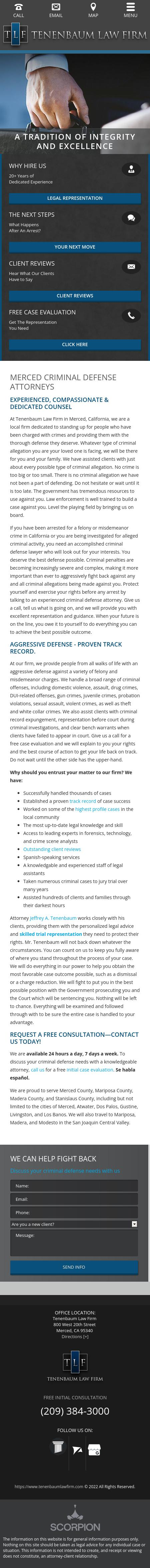 Tenenbaum Law Firm - Merced CA Lawyers