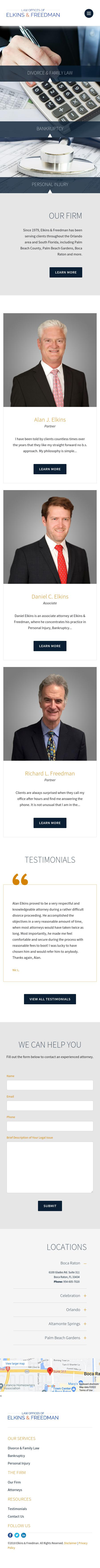 The Law Offices of Elkins & Freedman - Orlando FL Lawyers