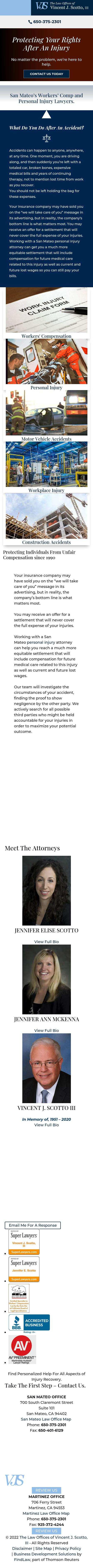 The Law Offices of Vincent J. Scotto, III - San Mateo CA Lawyers