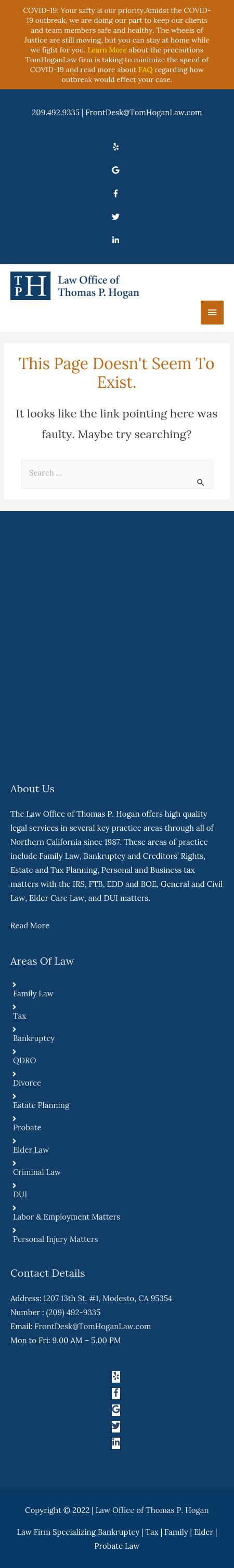 Thomas Hogan Law Office - Pleasanton CA Lawyers